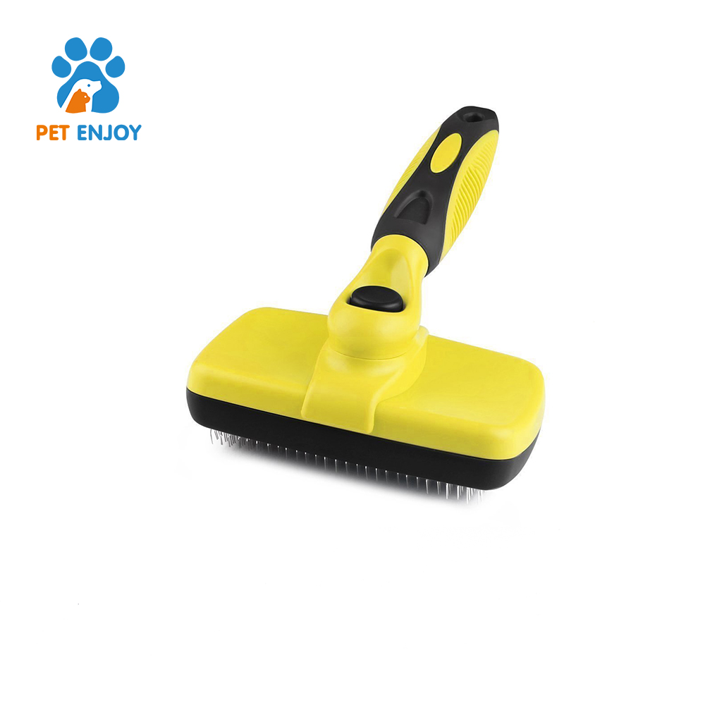 2017 pet products trending self cleaning slicker shedding pet grooming brush for pet