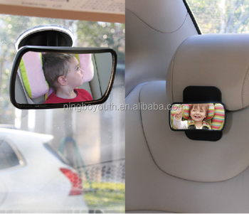 CC0014 BABY SAFETY CAR MIRROR Baby Car Mirror Back Seat Mirror Wide Convex Shatterproof Glass Adjustable Auto Rear View Safety