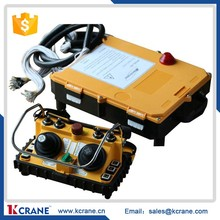 Two transmitter and one receiver Overcrane Joystick Industrial Remote Control for tow crane F24-60