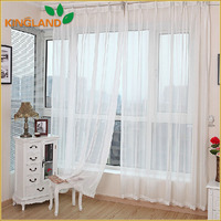 100% Polyester Plain Organza Curtain With Light / Semi-Sheer Decorative Textiles