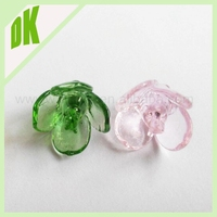 diameter-20mm (other sizes also can be offered ) ~~ colores :pink&yellow&green ... wholesale decorative colored glass flowers