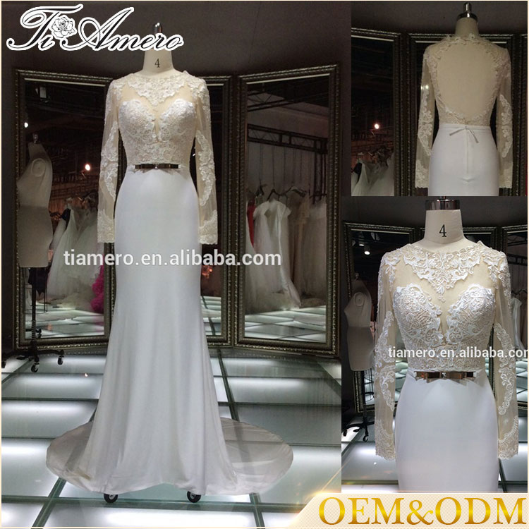 Berta Bridal 2014 Israel designer fashion sexy open back long sleeve french lace elegant luxury wedding dress
