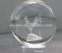 elegant round K9 Crystal glass 3d laser engraved clear Constellations zodic sign rooster terrarium 3d crystal terrarium