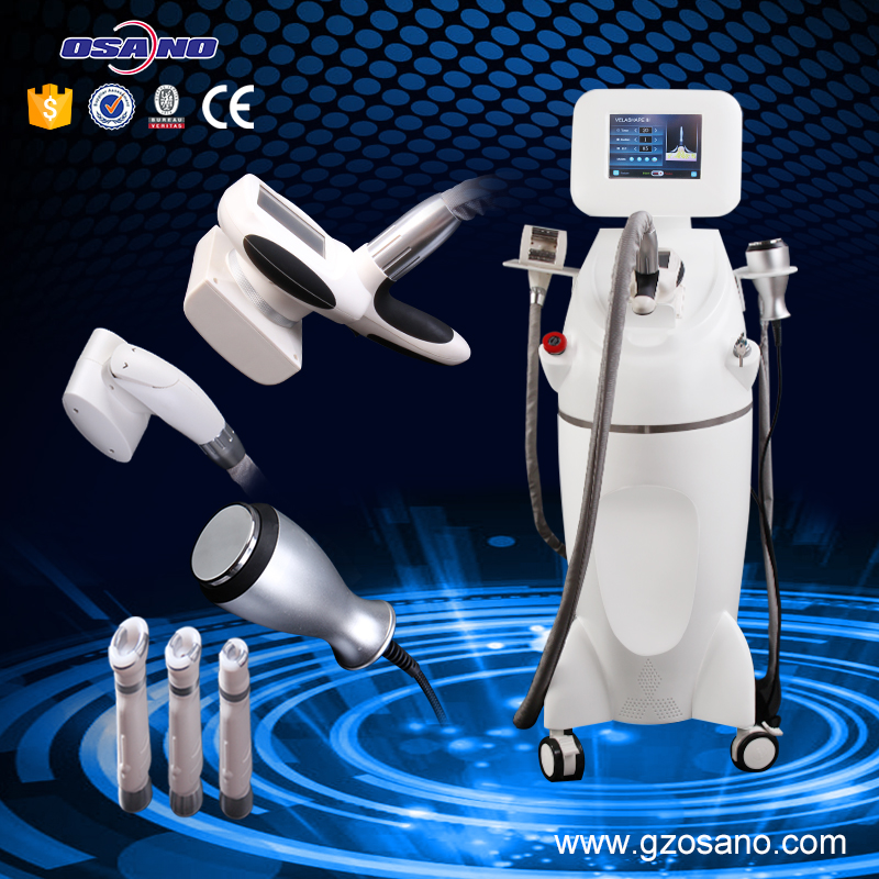 Velashape system with Infrared laser heating +vacuum Roller Massage+Vacuum+ vacuum RF handle for face