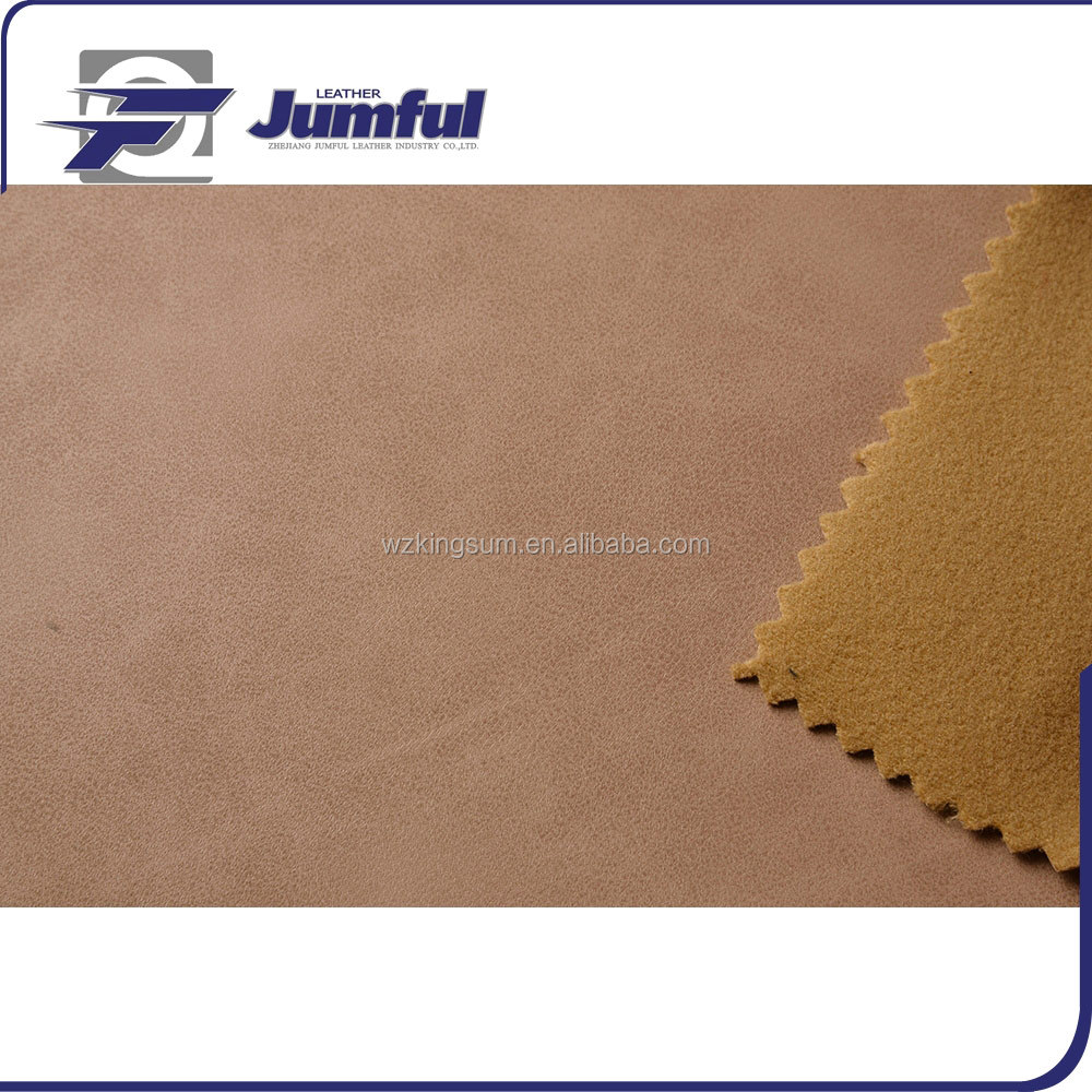 Quality Guaranteed synthetic nubuck leather for shoes