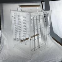 Factory direct sale unique clear acrylic parrot cage bird carrier acrylic bird traveling carrier