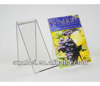 clear acrylic counter top easels for magazines