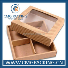 High grade corruagted paper box with PVC window