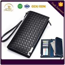 Hot sale Cheap Custom brand money clip purse rfid PU leather wallet men