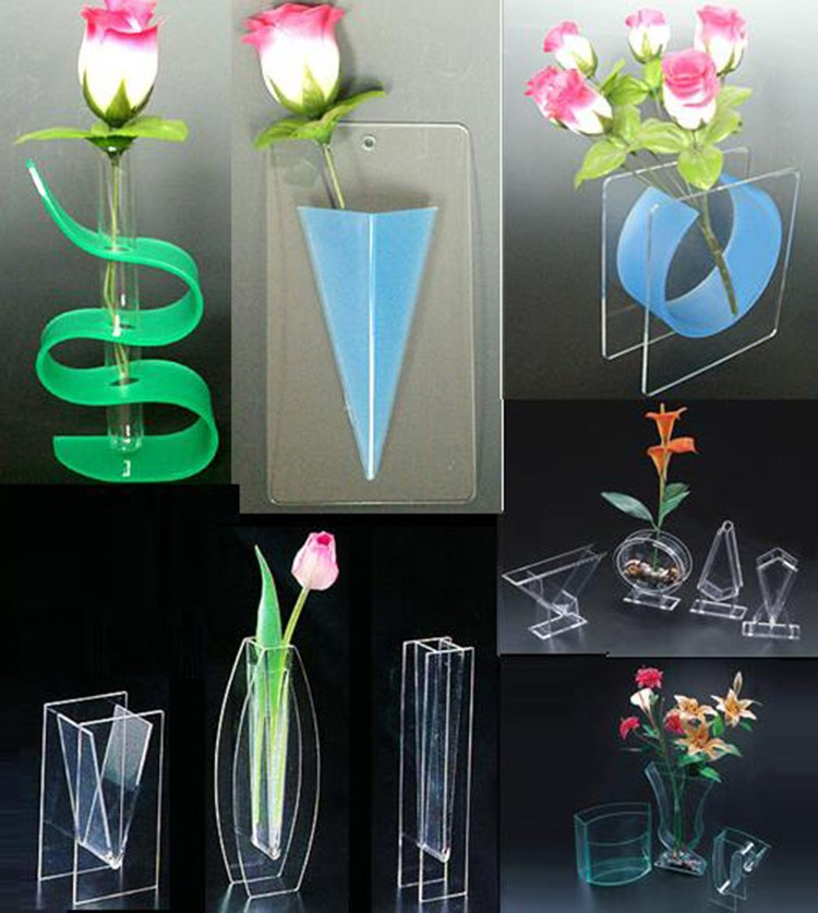 Home decor tall acrylic vases wholesale beautiful clear for Acrylic decoration