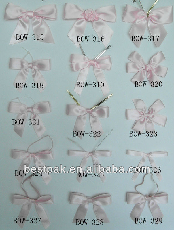 Fancy handmade gift bows package bows satin ribbon butterfly bow