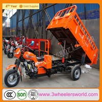 China 200cc Cargo Three Wheel Motorcycle with hydraulic lifter/200cc motorized tricycle with hydraulic tipping bucket
