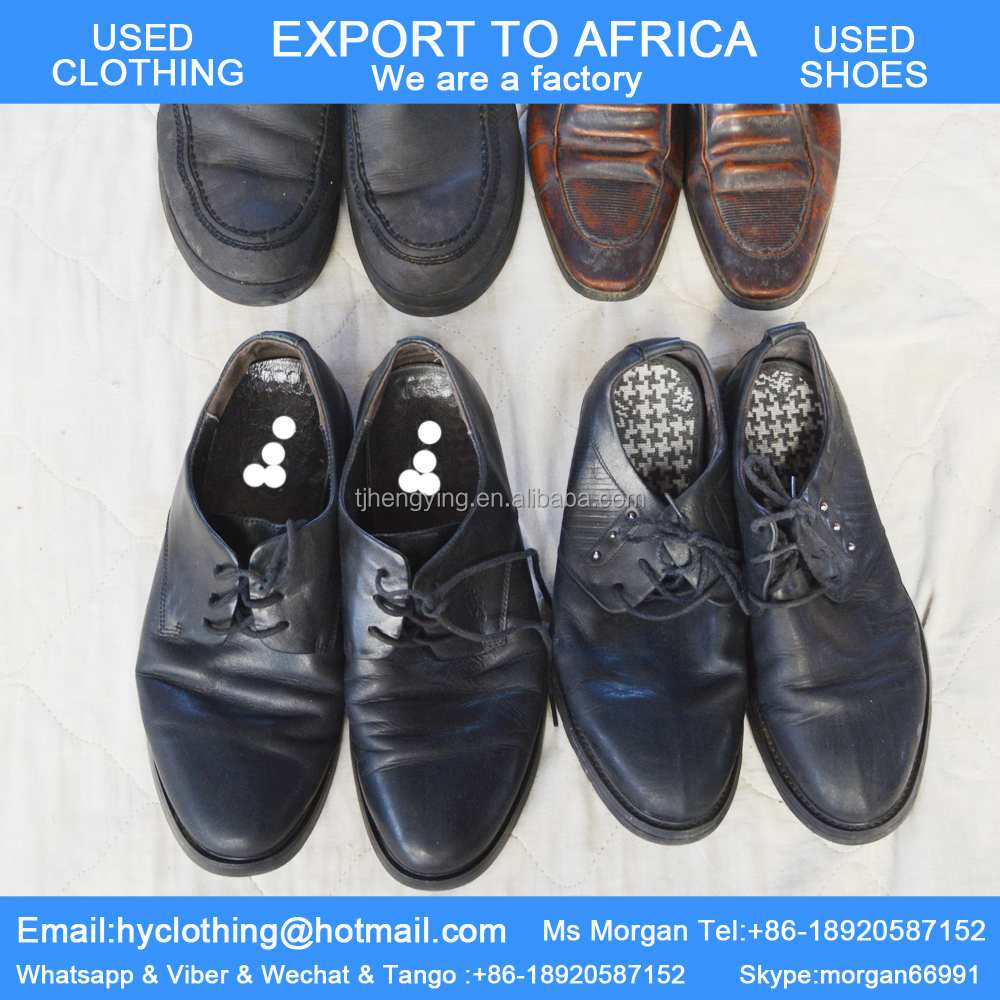 factory directly supply good quality tidy second hand shoes leather used shoes for men export for Africa