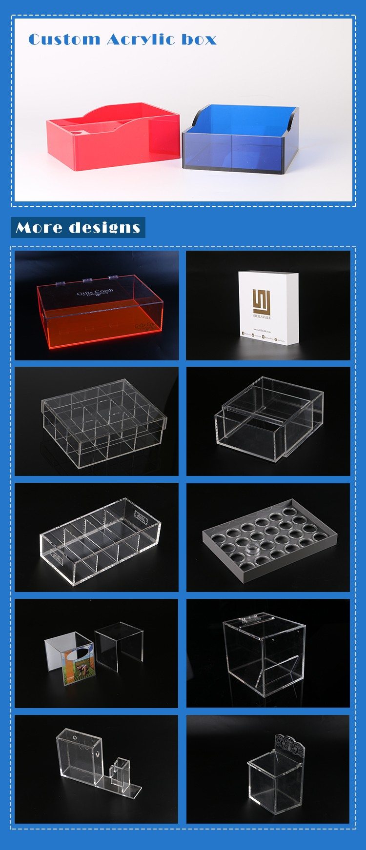 Clear Acrylic Box With Lids Clear Acrylic Favor Box Customized Acrylic Box