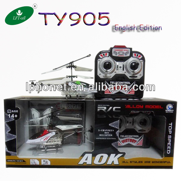 2013 TY905 3 channel rc helicopters with gyro