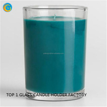 colored printing motivational glas candle jar