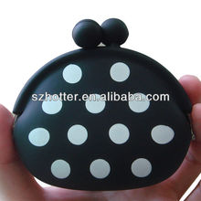 Printed silicone rubber jelly coin purse wallet