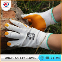 Rubber coated safety mechanical work gloves