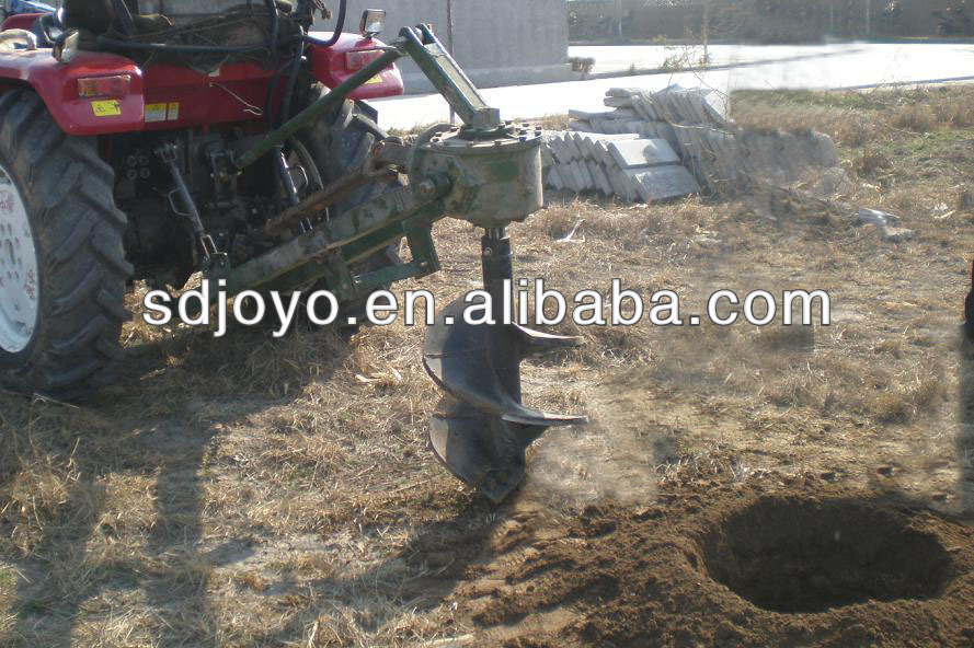 tractor post hole digger, tractor hole drilling machine, tree hole drilling