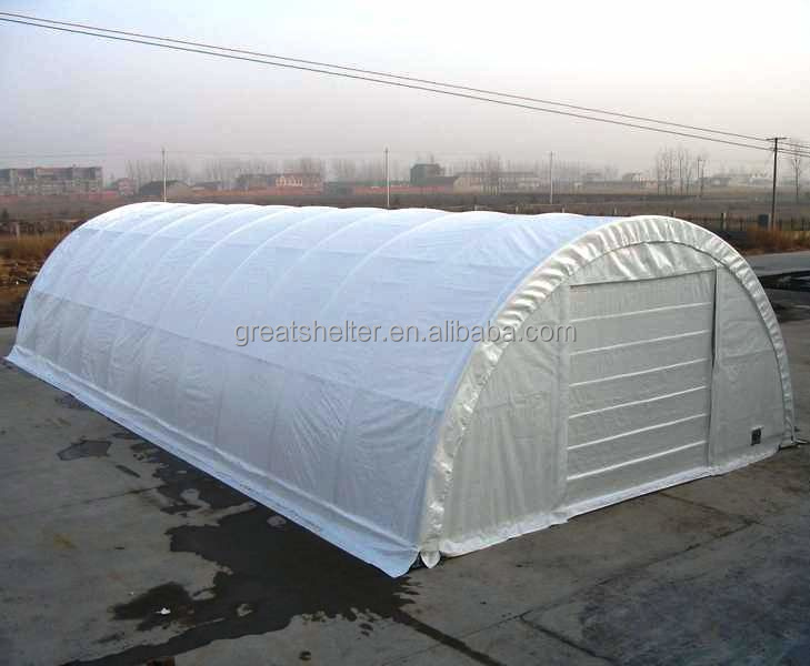 Popular Mechanical Door Semicircle Steel Storage Tent with CE Certificate