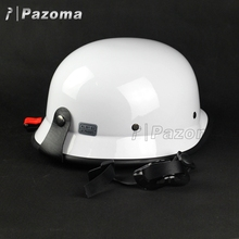 XL White Safety Wholesale Half Face Stylish German Style Dot Custom Motorcycles Helmets