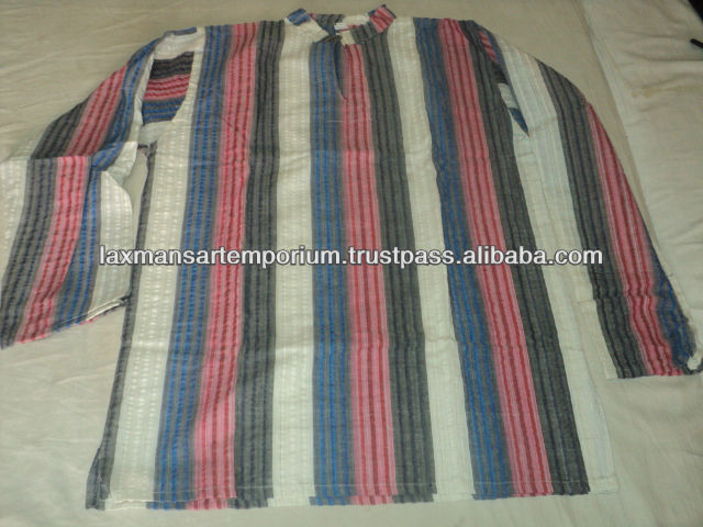 cotton gents shirts from india new stripes model