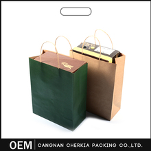 Hot sale strong recycled logo printing cheap brown paper bags with handles