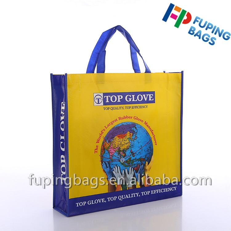 Cheap Promotional Fashion design cute laminated non woven shopping tote bag