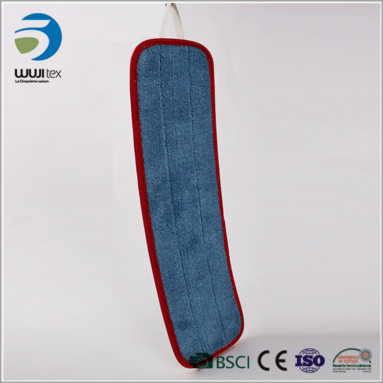 blue rectangle microfiber home floor pad cleaning mop cloth