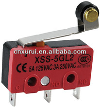 Pin plunger type 3 pins micro switch 125v 3a model XSS-5