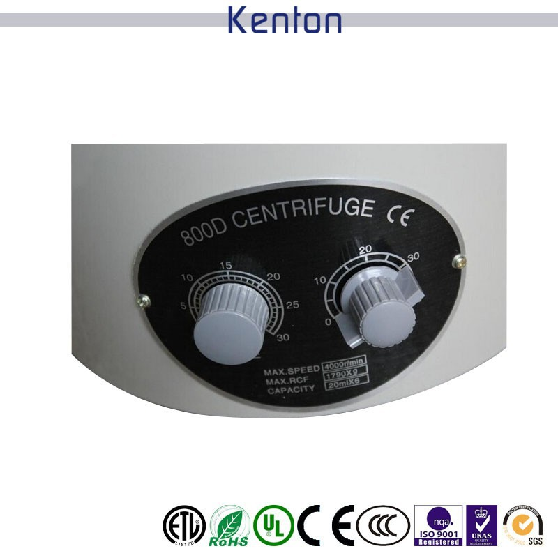 Free shipping 800D Desktop Electric Medical Lab Centrifuge Laboratory Centrifuge 4000rpm CE 6 x 20ml