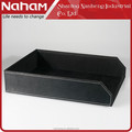 NAHAM Office Leather Decorative Desk Organizer A4 Size Files Box