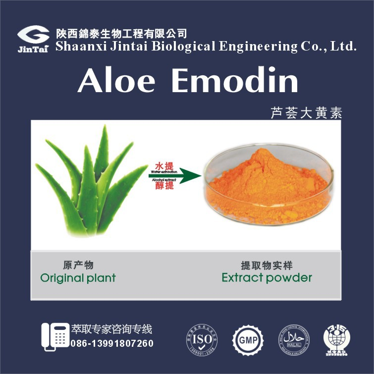 Free Samples Herbal Aloe Vera Extract 98% Aloe-emodin