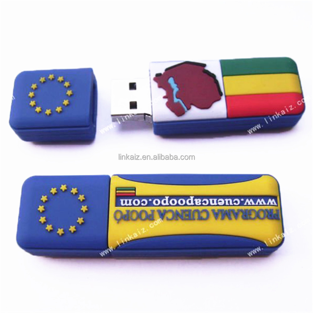Real capacity bulk 1gb pvc rubber usb flash drive from China supplier