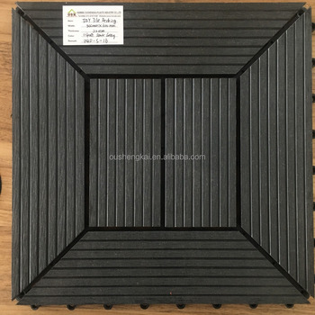 SOLID FLOOR DECKING WOOD PLASTIC COMPOSITE DECKING FLOORING300*300*22MM