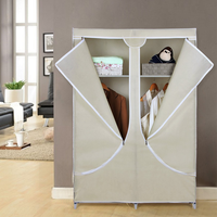 Cheap Folding Wardrobe, Zipper Lid Cover Wardrobe Cabinet for Clothes
