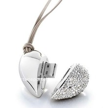 Dimond Jewelry Heart USB 2.0 / Valentine's Day Best gift for Lovers