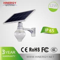 long life span solar courtyard light 9W 12W energy saving outdoor solar light
