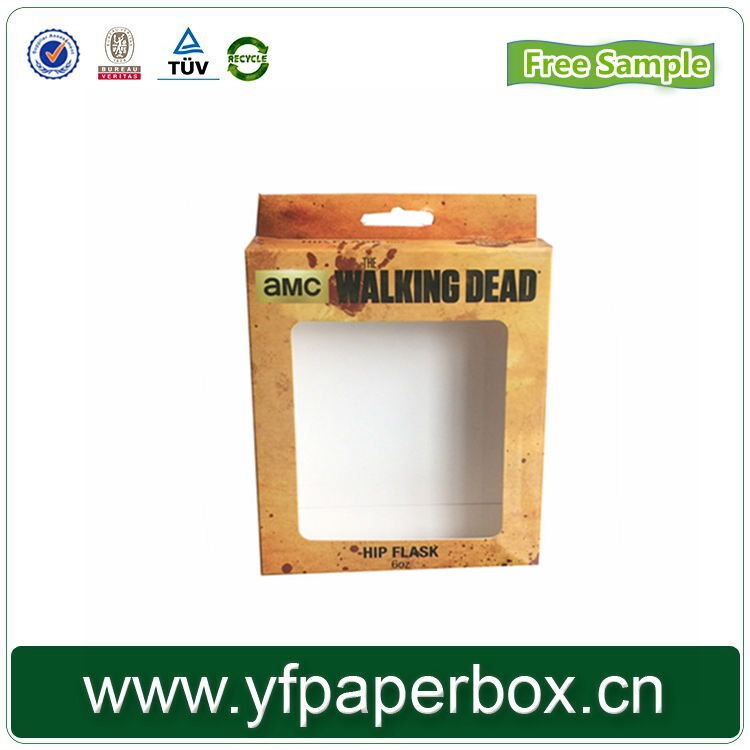 garment carton box apparel sock packagingbox for garment with window