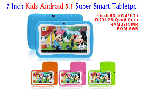android 5.1 high quality 8GB ROM tablet pc for children