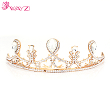 wayzi brand custom birthday jewelry wholesale gold princess india wedding tiara wedding tiaras and crown