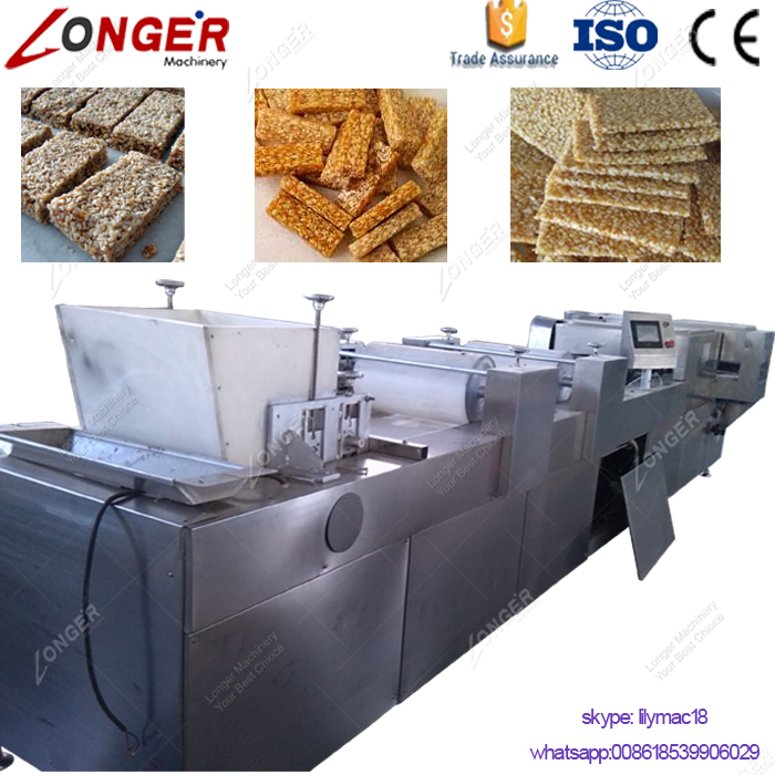 Hot Selling Top Quality Cereal Bar Machine Peanut Brittle Making Granola Bar Machine