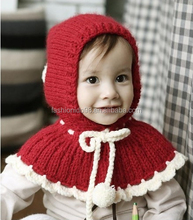 Baby winter shawls, Hand Knitted Fashion Wraps Shawl Cape Cloak Crochet Knit Button Baby Hats & Caps