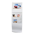 "2016 New! J 19"" magazine rack touch screen advertising player"
