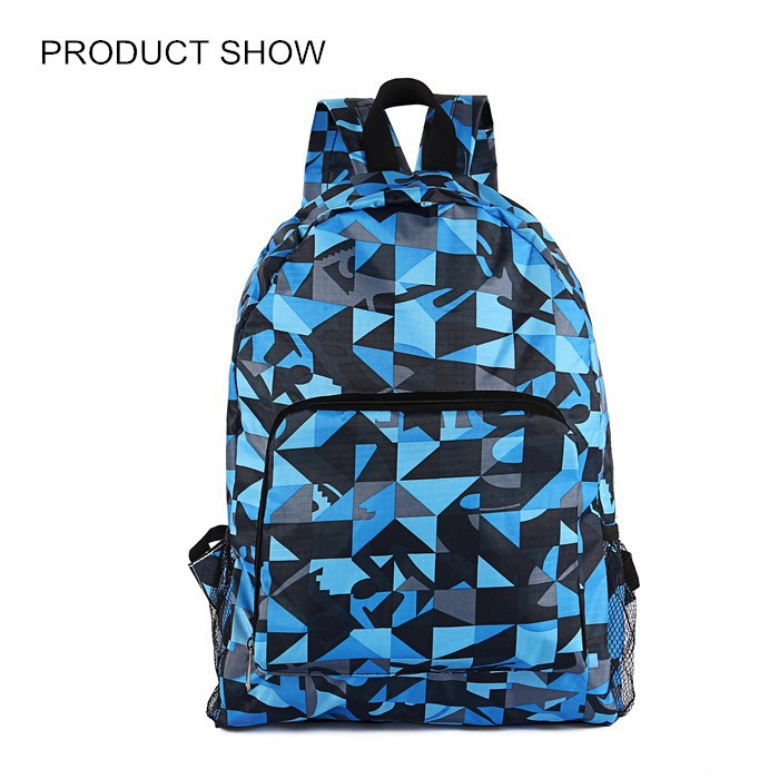 Fashion custom printed backpack unisex school backpack bag for teens foldable and portable designed leisure backpack