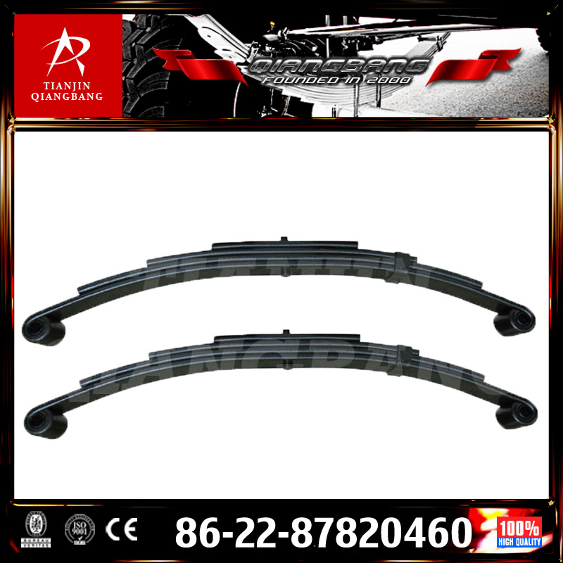 double eye parabolic truck bus suspension leaf spring