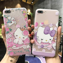 Full Cover Dull Polish Hello Kitty TPU Phone Case For Iphone 6