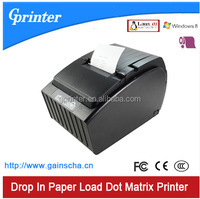 76mm impact Dot matrix receipt Printer with Auto cutter and drop in paper loading