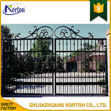 hot-dip galvanizing house used decorative wrought iron entrance gate NT-WI156Y