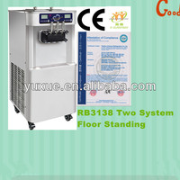 Hot sale soft serve ice cream machine RB3138 CE, double system, commercial use.